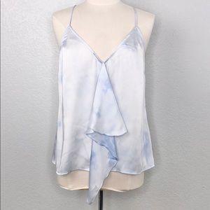 Michael Kors Baby Blue Criss Cross Ruffle Top XL